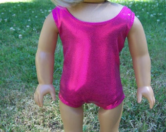 American Girl Doll Clothes - One-piece Hot Pink Swimsuit and Beach Towel