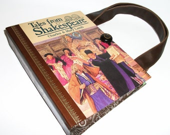 Book Purse Shakespeare Handbag Upcycled Book Bag Vintage Trendy Handmade Purse