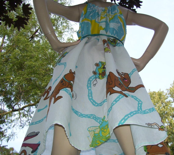 Scooby Doo Dress OAK Upcycled Sundress Geek Summer Scooby Dress Adult M to Plus Size