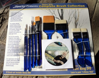 Sterling Edwards paint brushes complete brush collection Art supplies watercolor on sale now!