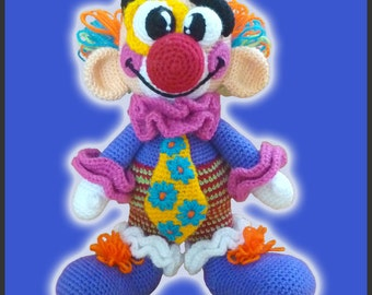 Amigurumi Pattern Crochet Miliki Clown DIY Digital Download