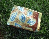 Clutch or Cosmetic Bag in Large Polynesian Design