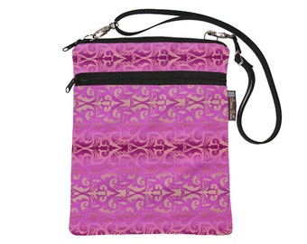 Tablet Bag iPad Case iPad Sleeve iPad Cover Ipad Air / Tablet TRAVEL BAG / adjustable shoulder strap /Fast Shipping - Pretty in Pink Fabric