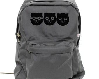 Backpacks Watson the Cat, Nylon Backpack, Rucksack, Laptop Backpack, Hipster Backpack, Kids Backpack, School, Mens Backpack, Womens Backpack