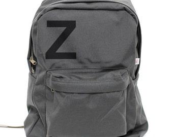 Backpack: Helvetica Monogram Backpack, Personalized Backpack, Monogram Backpack, Laptop, College, Men's Backpack, Women's Backpack, Rucksack