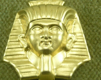 King Tut  Egyptian Emperor Brass Stamping Mold for Clay