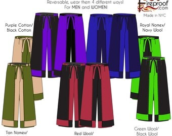 Deluxe Reversible Tie pants in many colors and fabrics
