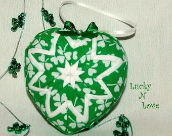 St Patricks Day Heart Irish Ornament Kit and Pattern - Lucky N Love