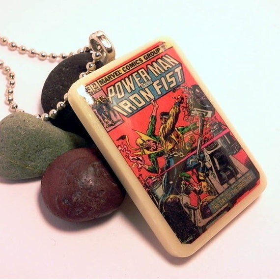 Iron fist necklace