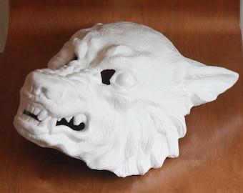 Cast Resin Werewolf Wolf Mask based on original sculpt DIY