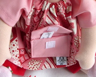 Waldorf Valentine Doll clothes, With Love from GermanDolls 12 inch, made in the waldorf tradition, Waldorf toy