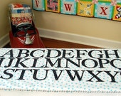 ABCs alphabet set fabric 4 inch letters for quilts, soft books, bean bag sets, wall hangings