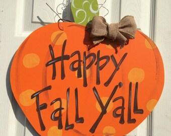 Personalized Door Decor, Pumpkin, Fall Decor, Fall, Holiday, Thanksgiving, Halloween