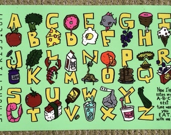 The ABC's of Food - Kids placemat