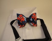 Action Spiderman as a Pretied Adjustable Bow Tie