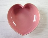 pink ceramic heart bowl 3  inches