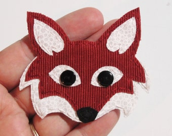 Fox Applique, Fox, Fox Embellishment, Fabric Fox, What Does the Fox Say? Fabric Fox Scrapbooking Embellishment