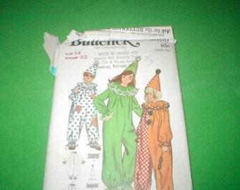 Vintage Butterick 6363 Clown pattern children and Girls