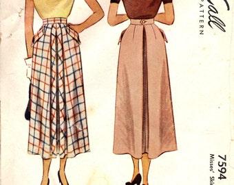 McCall 7594 Skirts 1940s ©1949