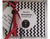 Gymnastics Score Book Scorebook for a Lucky Gymnast Boy or Girl. Personalized---Pretty. Customized