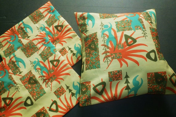 Pablo's Lounge, Tiki Modern Pillow cover for RUGXOTICA