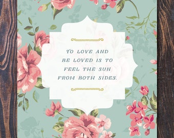 Feel the Sun Art Print - Ships Free in US, Multiple sizes. new baby gift, nursery decor, baby shower art, mothers day, floral art, vintage