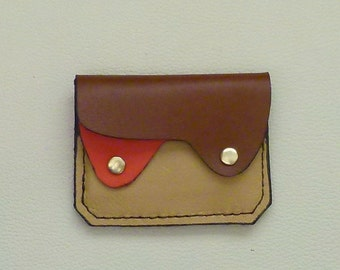 Small Leather  Wallet, Coin Purse ,Card Case,  Autumn colors Leather Wallet, Earth colors wallet