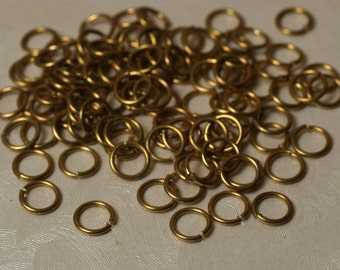 Jump ring solid brass 6mm outer diameter 20g thick, 100 pcs (item ID YWHS00468)