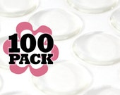 Clear Epoxy Stickers 1 inch. 100 Pack Glamour Dots.