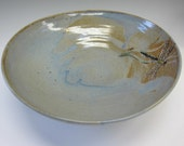Dragonfly Serving Bowl Dustry Blue 11 inches wide