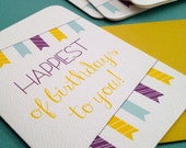 Happiest of Birthdays to You! set of 8 or larger