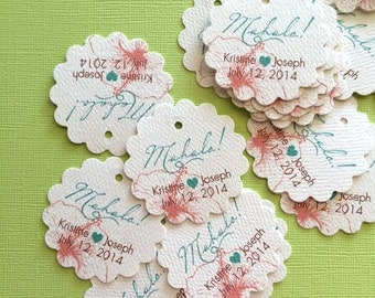 Hawaiian Party Favor Tags, sets of 20