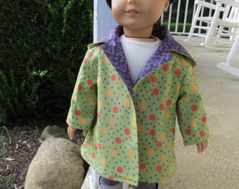 Halloween dots coat for American Girl 18 inch doll