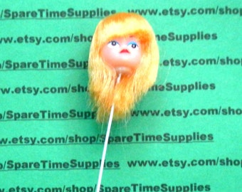 "Darice -12149-2 Long Hair Doll Head - 1"" - blonde - 1 pc"