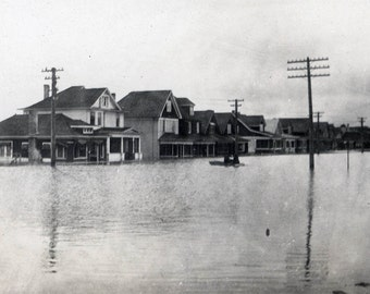 vintage photo Historic Flood Winnipeg Canada 4 photos 1916