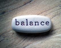Clay word, Balance, Yoga Gift, Pocket Word, Clay Word, Handmade Gift, Porcelain Clay