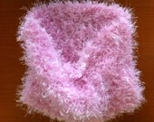 cowl pink fluffy knit