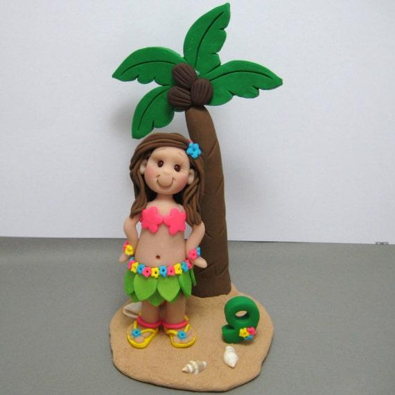 Hawaiian Doll Cake Topper