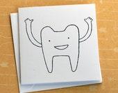 Tooth - Screenprinted Card