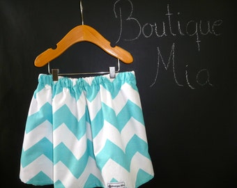 SAMPLE - Children Skirt - Will fit Size 4T up to 6 yr - Riley Blake Chevron - by Boutique Mia and More - Ready To Ship