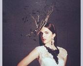 BlackBeaded Lace and Neckpiece