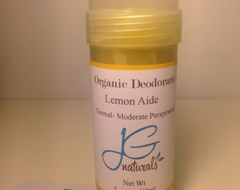 Best Natural  Lemon Deodorant for Moderate Perspiration