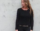 black Sweater / black v neck  sweater