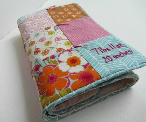 Baby Girl Quilt with Custom Hand Embroidery by Dolce Dreams