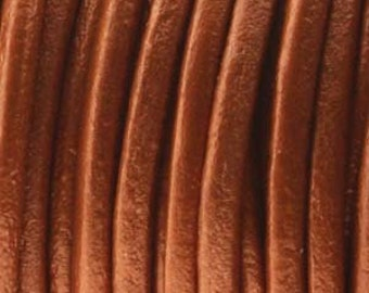 1mm (You Pick Length) Dusty Brown Genuine India Leather Cord 420330