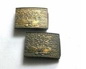 Vintage Bronze Belt Buckl...