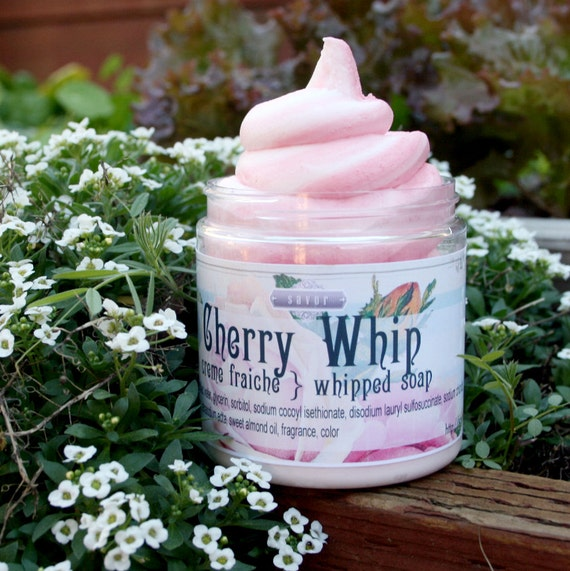 Cherry Whip 8 oz Whipped Soap Creme Fraiche VEGAN