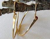 Medium gold hoop earings gold hoops hammered gold hoop earings
