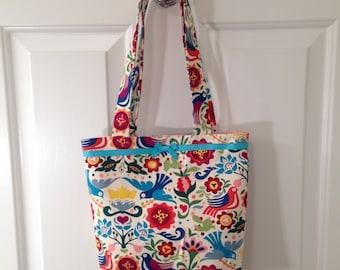 SMALL TOTE BAG Folklorico Purse Handbag Day of the Dead Mexico Mexican