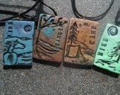 What's your passion...Hiking . Camping . Riding. Canoeing ... Polymer Clay Pendants